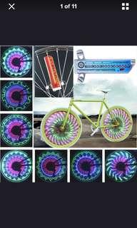 32 pattern LED bike accessories lamp bicycle wheel waterproof light