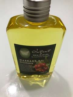 Massage oil cranberry