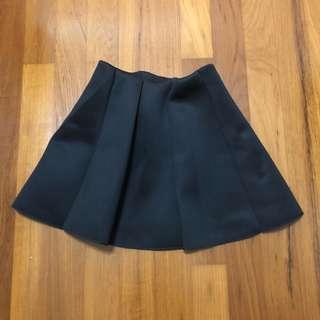 Black Neoprene Skater Skirt
