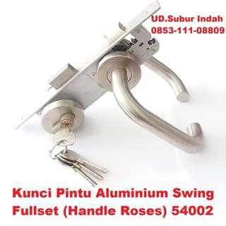 Kunci Pintu Aluminium Swing Fullset (Handle Roses) 54002