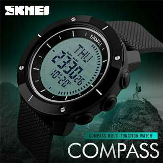SKMEI Sport Compass Watch World Time Stopwatch 2017 NEW