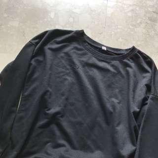 basic black pullover