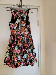 miss cherry floral dress sz 10