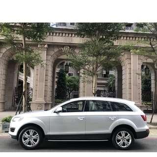奧迪Q7 3.0TDI正七人座全景天窗可全額貸60期低利率有興趣歡迎預約看車