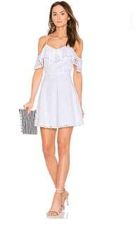 J.O.A off shoulder lace dress