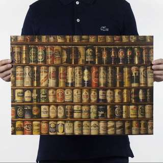 Beer Collection retro rustic vintage kraft paper poster