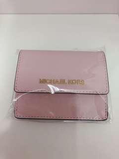 Michael kors 粉紅色銀包