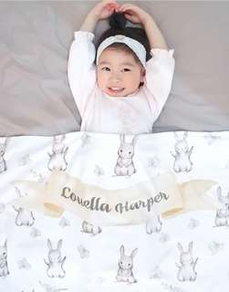 Bunny toddler blanket