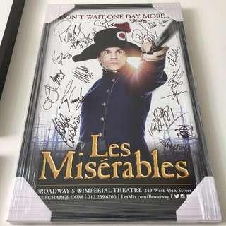 Signed Les Misérables Poster