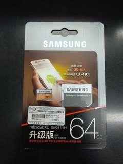 Samsung EVO 64GB MicroSD Card (連SD卡轉換器)