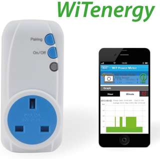 322.WiTenergy Bluetooth Smart Plug-in Socket Remote Energy Meter and Timer Control for iPhone5, iPhone6S,iPad Air2 and Samsung Galaxy S6/Note5