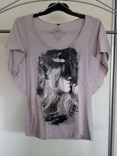 EDC by Esprit Batwing Tee - Size S