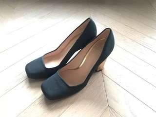 Tory Burch TB Satin gold heel shoes 金踭高踭鞋