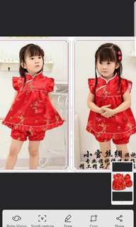 CNY dress for toddler girls