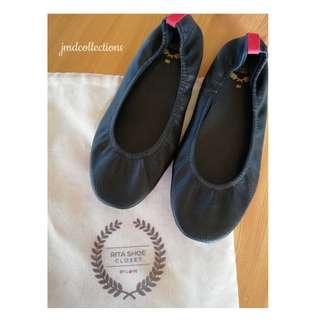 Rita Black Doll Shoes