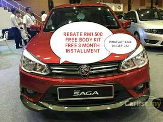 CASH REBATE RM1,500 FREE BODYKIT!!! PROTON SAGA NEW MODEL