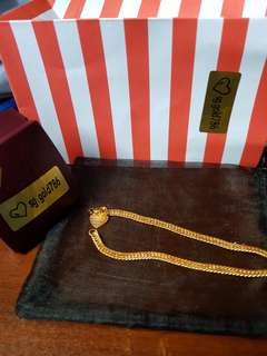 916 gold bracelet 17cm or 18cm