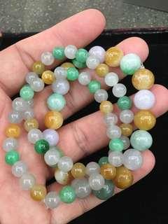 天然缅甸玉手链 A grade Myanmar jadeite