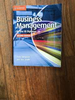 IB BUSINESS MANAGEMENT TEXTBOOK