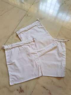 White Drawstring Bag (22cm x 20cm) *GOOD FOR DIY*