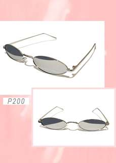 Retro oval sunnies (grey)