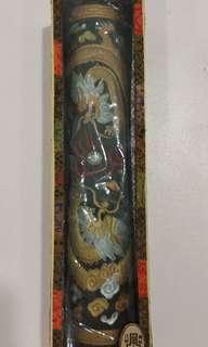 (特價)中國徽墨 龍柱墨條 二龍爭珠 承文堂 胡開文製造