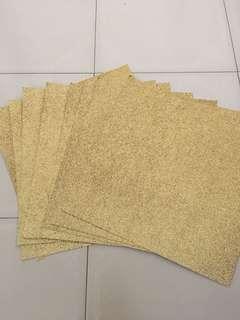 [INSTOCK] Gold glitter craft paper