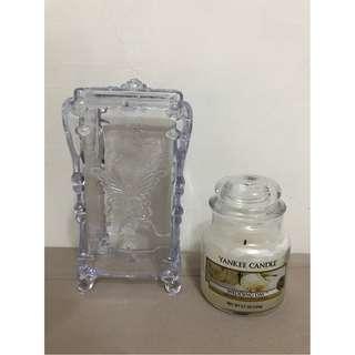Yankee Candle 瓶中燭(小) WEDDING DAY (逾八成) + 化妝棉放置盒 (全新)