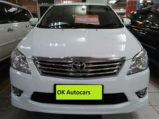 Toyota Kijang Innova G Luxury 2012 AT cc 2.0 Putih matic siap pakai