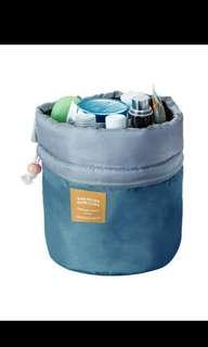 Drawstring cosmetic, toiletries bag