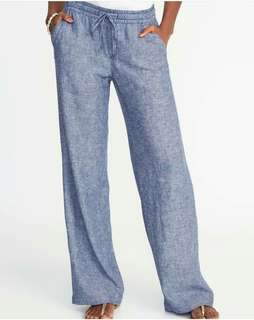 Old Navy Chambray Blue Wide Leg Pants