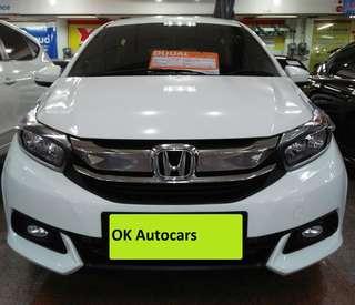 Honda Mobilio E CVT 1.5 Tahun 2017 Matic Putih metalik KM 12 Ribu