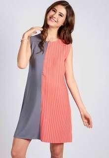 Grey Sleeveless Half Pleat Nursing Dress jumpeatcry