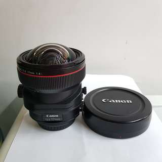 Canon TS-E 17mm f4 L tiltshift lens