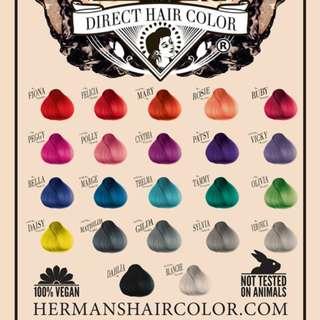 Herman's Direct Dye Vegan Semi-Permanent Hair Dye