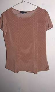 The executive brown blouse
