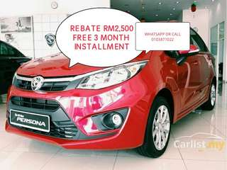 CASH REBATE RM2,500 AND 20+ FREE GIFT NEW PROTON PERSONA