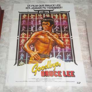 "Goodbye Bruce Lee Wall Size 47 x 63"" Poster 70's France Game Of Death 李小龍 Mint"
