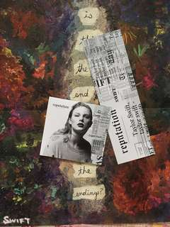 Taylor Swift Reputation Album, Bookmark, and Poster
