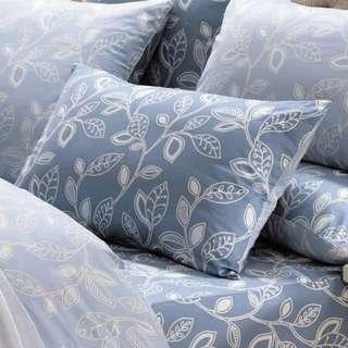《奧德曼-藍 / 灰》精梳棉 枕頭套2入