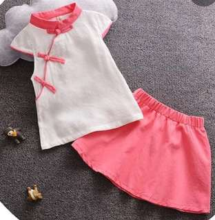 Chinese New Year Mid Autumn festival mandarin collar costume for Baby Girl