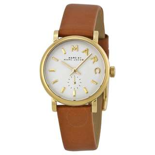 MJ Baker Mini Brown Leather Strap Women's Watch (AUTHENTIC)