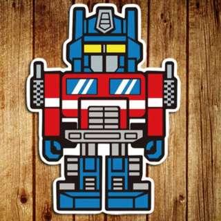 Transformer Optimus Prime Sticker Gloss Waterproof