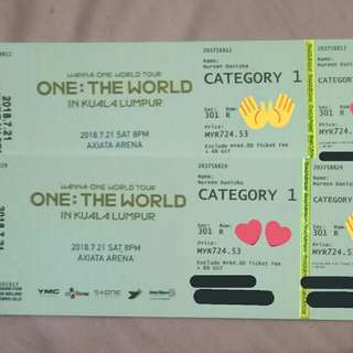 (WTS) WANNA ONE TOUR IN KL TICKET