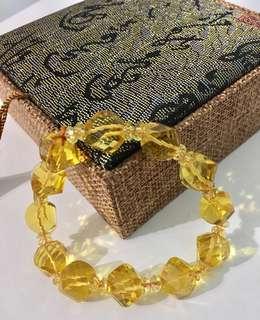 Bracelet - Yellow Citrine 黃水晶手链