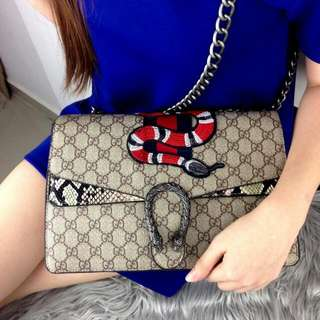 """HIGH QUALITY""  LIMITED EDITION...    NEW DIONYSUS... NEW MY GUCCI...  Ready Stock New Arrival GUCCI Dionysus GGjj Embroidered Bag Spring Summer 2018"