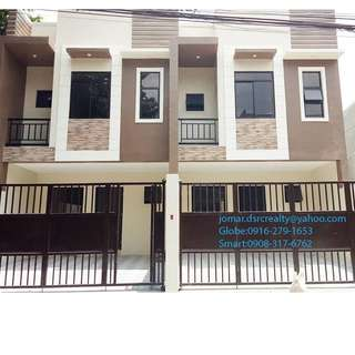 New RFO Townhouse For Sale At L. De Guzman St. Marikina City