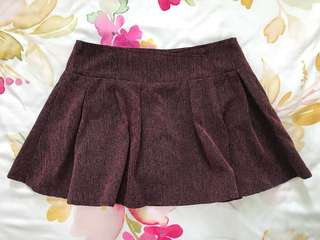 Maroon Skorts. Good condition as barely worn.