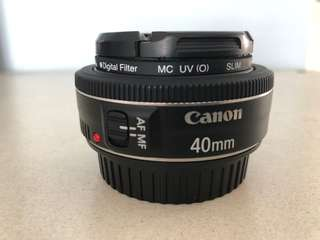 Canon EF 40mm 2.8 STM LENS