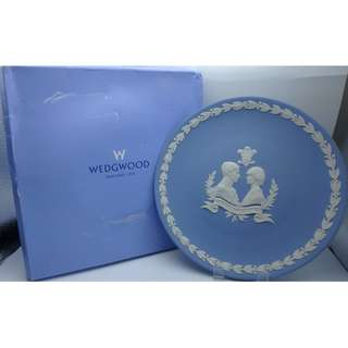 WEDGWOOD- 1981 ROYAL WEDDING (戴安娜) 英國 陶瓷碟 w/box